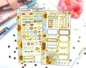 Soothing Sunflowers Personal Sized Kit | Planner Stickers