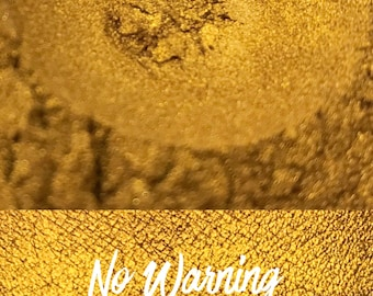 No Warning, Metallic Orange Gold Loose Pigment 10 gram jar, Mineral Eye shadow Pigment
