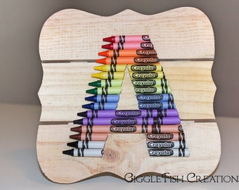 Crayon Letter w/ Easel Back: Great for Teacher's Gift, Classroom or Kid's Room