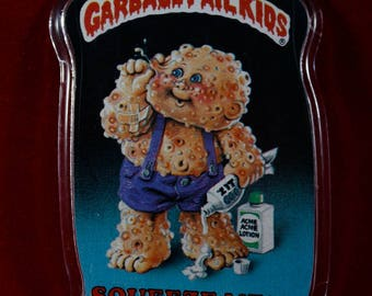 Garbage Pail Kids - SQUEEZE ME! - Retro Pin Badge 1986