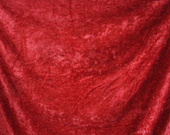 Soviet Vintage Plush Tablecloth or Bedspread or Curtain - Fringed Table Cloth - Velvet Boho Home Decor - Made in USSR