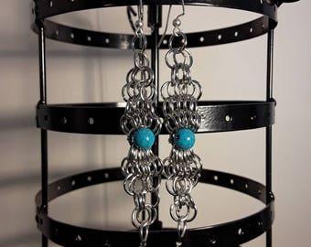 Sea Chainmail Earrings