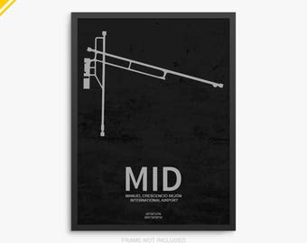 MID Airport, Merida International Airport, Merida Mexico, MID Airport Poster, Merida Airport, Merida, Merida Airport Poster, Mexico, MID