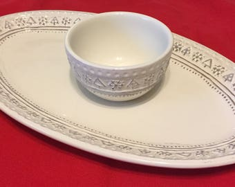 Hallmark Snack Plate with Dip Cup.
