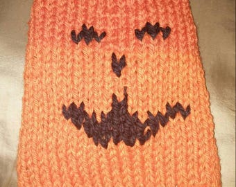 Halloween pumpkin small dog sweater size