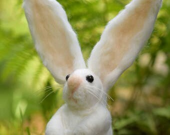 DIY Bunny Needle Felting Downloadable Instructions & Link to Video