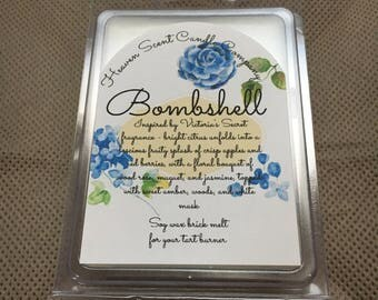 Bombshell hand-poured soy wax brick melt