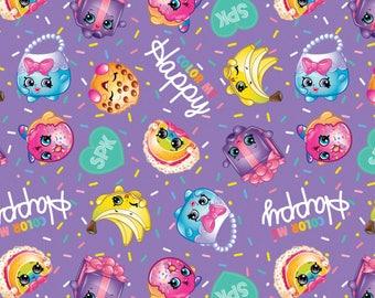 Shopkins Color With Me Happy Cotton Woven, Shopkins Fabric, Shopkin Fabric, Shopkins Material, Cotton Woven, Cotton Woven Fabric, Cotton