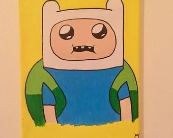 Finn the human Adventure time painting!