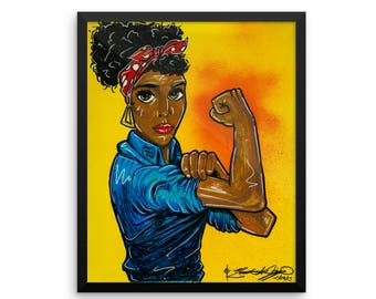 Black Rosie the Riveter - Poster Print
