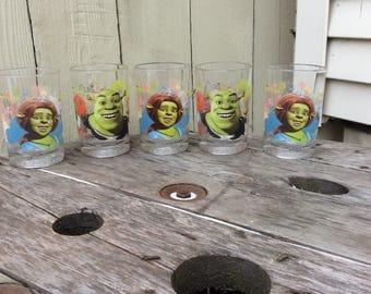 Vintage McDonalds Shrek the Third Set of Five Glasses