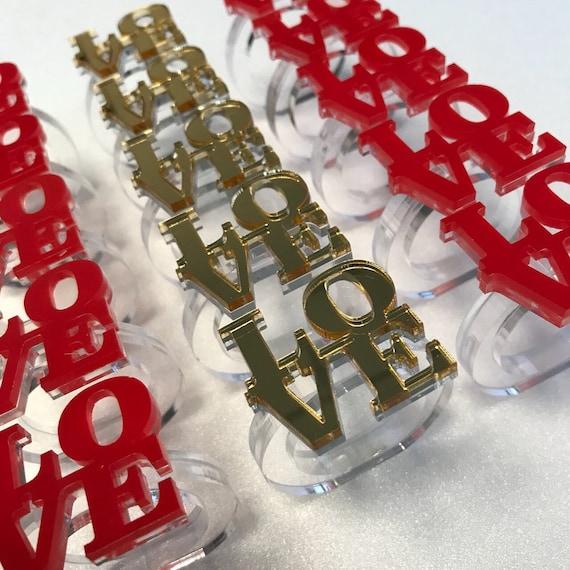 Valentines day gift Gold napkin ring holders Love napkin rings Wedding decorations Valentines day decor Wood handmade box Set of 4, 6, 8...