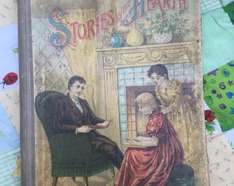 Antique Children's Book Lathrop Publishing, Boston, Mass STORIES by the HEARTH