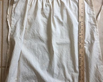 Girls Size LARGE Muslin Apron 18th Century Prairie Costume Civil War Re-enactment