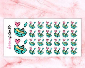 15% OFF A158 | BAKE Stickers Perfect for Erin Condren Life Planner, Filofax, Plum Paper & other planner or scrapbooking