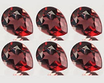 Red Garnet pear cut 10 pcs lot Natural Garnet Pear cut faceted loose gemstone for jewelry