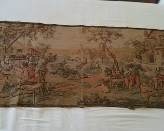 Vintage tapestry scene bucolic/french vintage tapestry, french country / romantic Scene