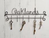 Key hooks  house name key holder  Key hook  key hangers  Custom Key Holder  Christmas gift  New Home gift  custom key hooks