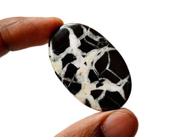 Septarian 60 Cts Natural  Top Quality Gemstone Cabochon Oval Shape 44x27x4.7 MM R14671