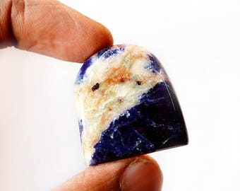 80% Sale Sodalite 47 Cts Natural Gemstone Cabochon Designer Free Form Shape Loose Cabochon 29x28x6 MM AC2031