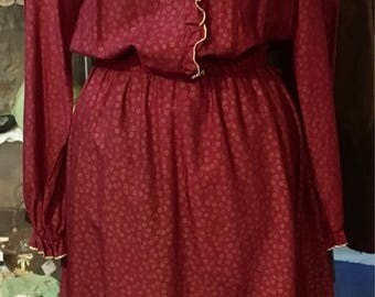 1990' Betty Barclay frilly dress. Size S/M.