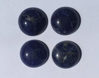 18 mm sodalite round cabochons 4 pieces lot