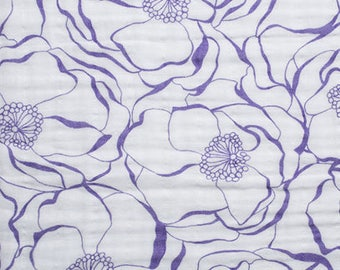 Embrace Bouquet Double Gauze Fabric - Jewel