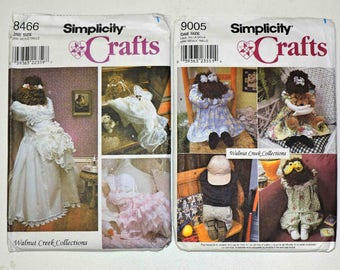 Simplicity Crafts Soft Doll Patterns 9005 and 8466