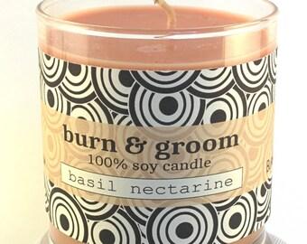 Basil Nectarine Soy Candle