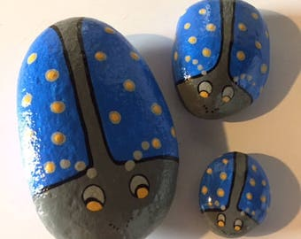 Lady Bugs in Blue -set of three