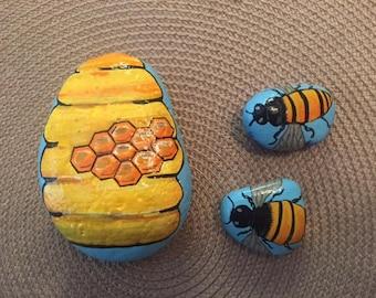 Bee's buzzin around the garden - set of three