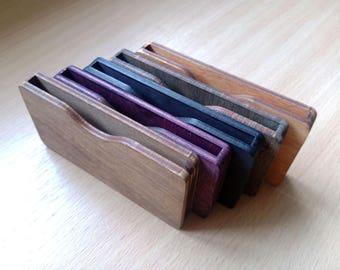 Wood Business Card Holder, original Card Holder, personalized Card Holder