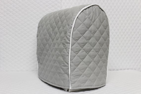 Ash Grey Quilted Kitchenaid Mixer Cover