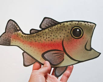 PRINTABLE : Rainbow Trout Gift Card Case