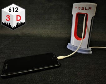 Tesla SuperCharger Phone Charging Station - iPhone & Android Compatible