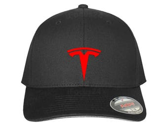 Tesla Flex Fit Hat ROUND Bill Dad Mom Gift - Free Shipping in USA