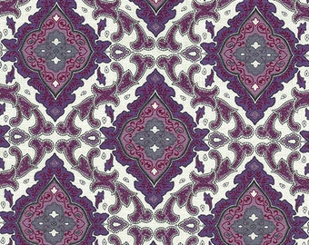 Outback Wife- Aggie- Violet- Cotton BARKCLOTH- Gertrude Made