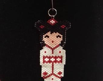 Pendant kokechi delicate 11/0 miyuki beads