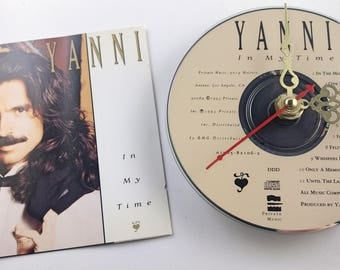 CD Clock Yanni In My Time Handmade Clock FREE U.S. SHIPPING Unique Birthday Present Gift