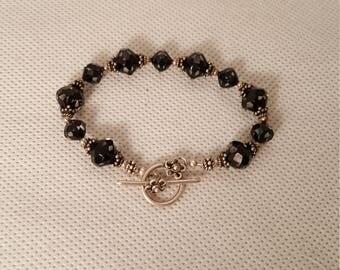 Black crystal bracelet (BR004)