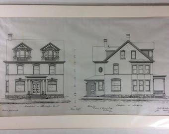 Antique, Original Architectural Drawing - Circa 1901
