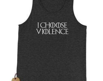 I Choose Violence GoT Jersey Tank Top for Men