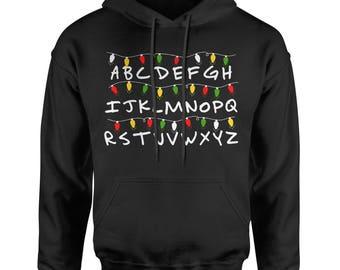 Alphabet Stranger Christmas Lights Adult Hoodie Sweatshirt