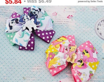 CHRISTMAS SALE My little pony birthday Fluttershy hair bows Rarity bow My little pony party My little pony headband Baby bow Birthday gif...