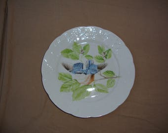 "Lierre Sauvage CNP France Bluebird Plate 8"""