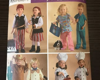 Halloween Costumes, Toddler Boys, Girls, Simplicity 3650, Pirates, Chefs, Doctors, Cowboy, Cowgirl, DIY, Sewing Patterns