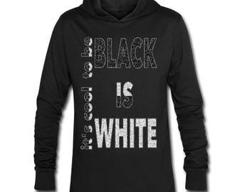 Apostel Unisex Hoodie-Shirt Hoody A13 BLACK is WHITE Size: S-XXL Black Blue