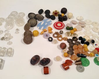 Glass Buttons, Military Buttons, Miscellaneous Buttons