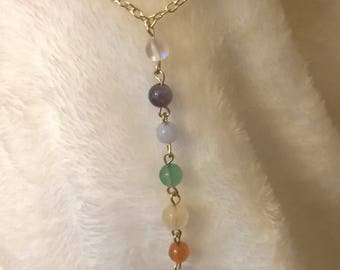 Long Drop Pendant Necklace