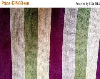 stripped cotton velvet